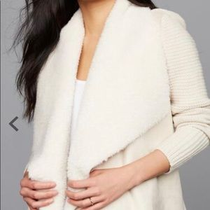 NWT: Drape Front Faux Suede Maternity Jacket